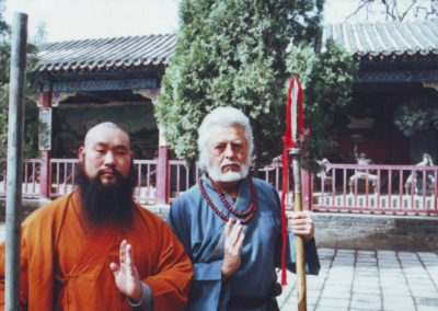 Kínában a Shaolin Kolostorban  Ming Wu-val