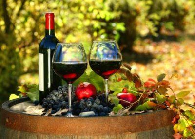 Szőlő és vörösbor